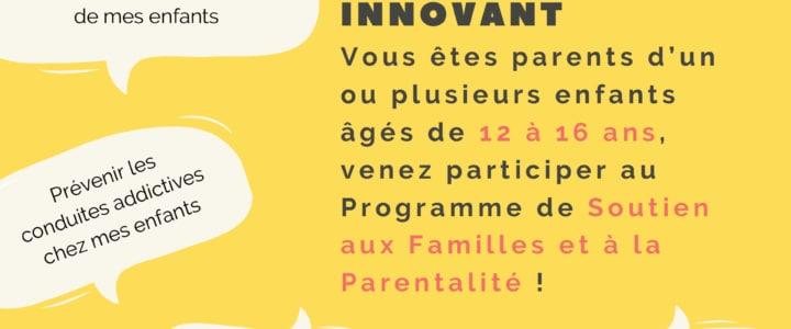 Programme de soutien aux familles et à la parentalité – première édition (2020)